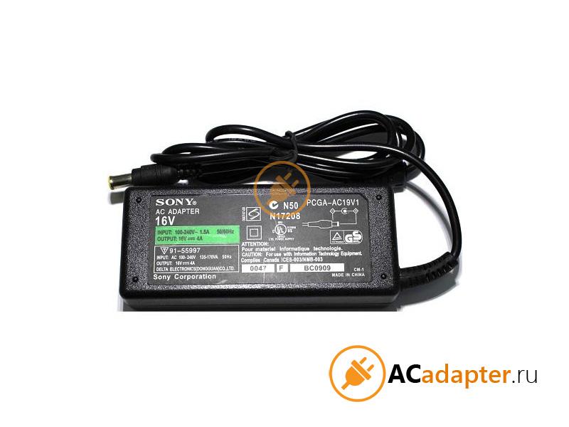 Адаптер Sony 16V 4A (6.0х4.4мм) | ACADAPTER.RU